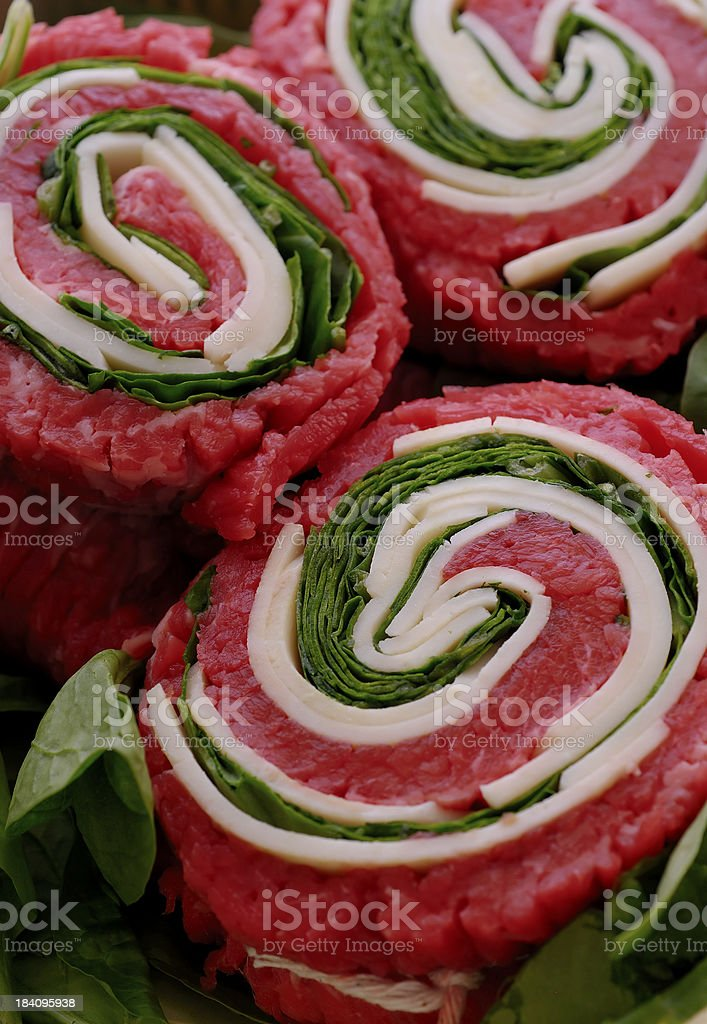stuffed flank steak serie royalty-free stock photo