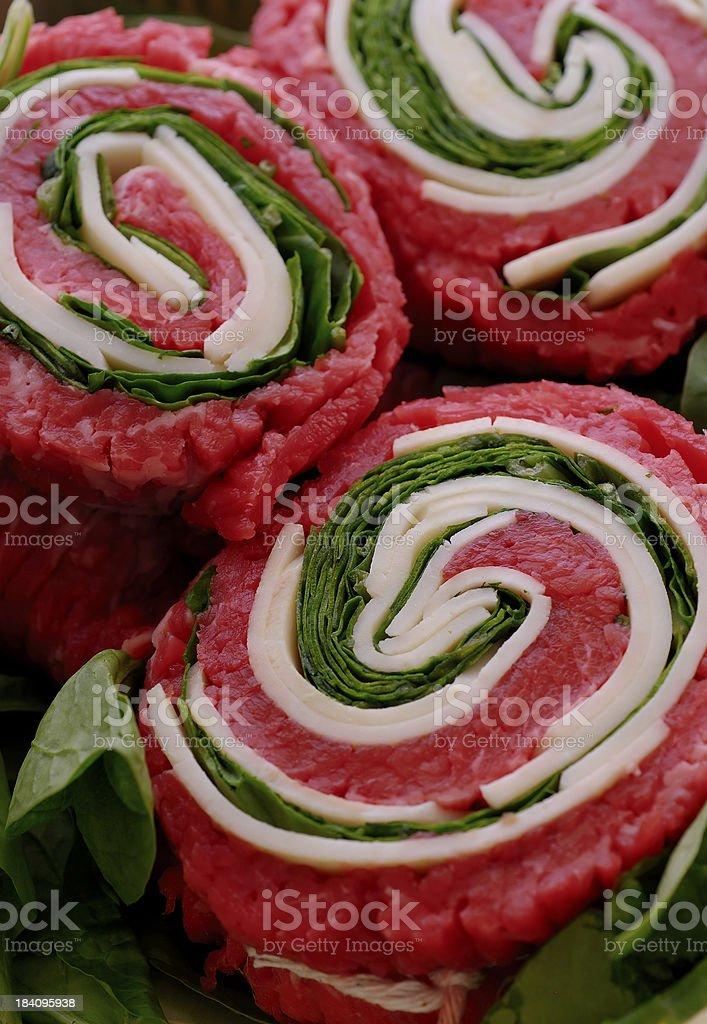 stuffed flank steak serie stock photo