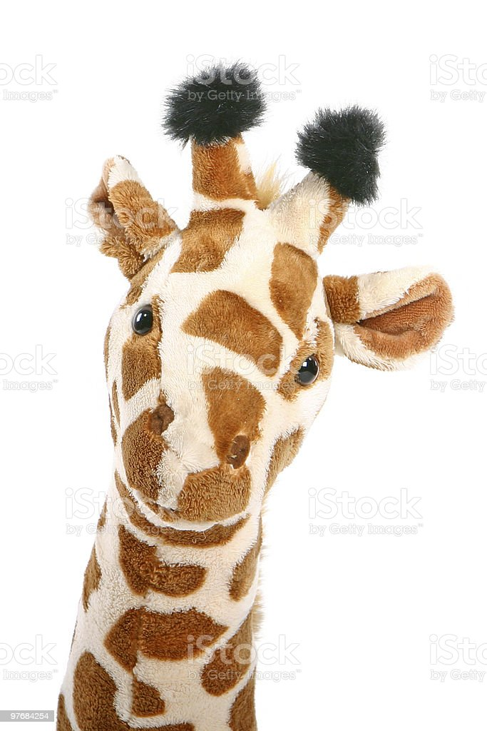 stuffed giraffe royalty-free stock photo