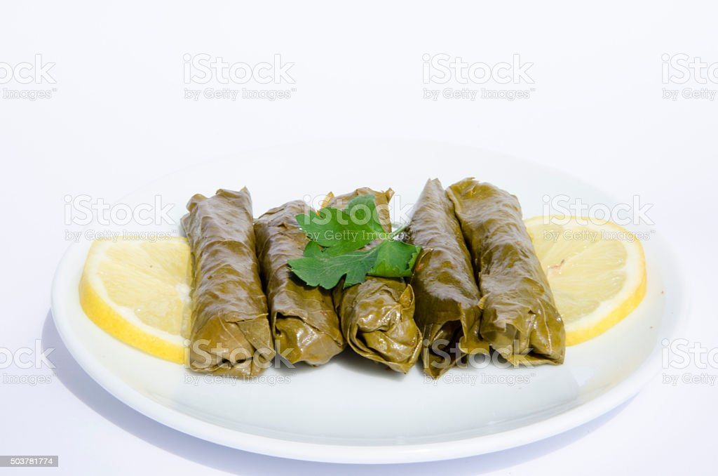 Stuffed grape leaves royalty-free stock photo
