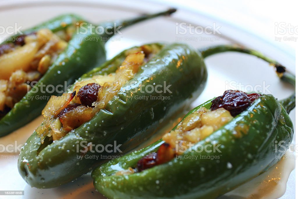 Stuffed Jalapeno Peppers royalty-free stock photo