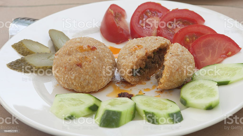 stuffed meatballs stock photo