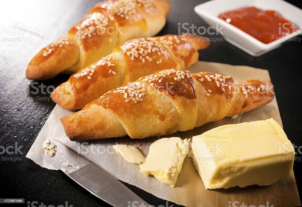 Stuffed mini croissants royalty-free stock photo