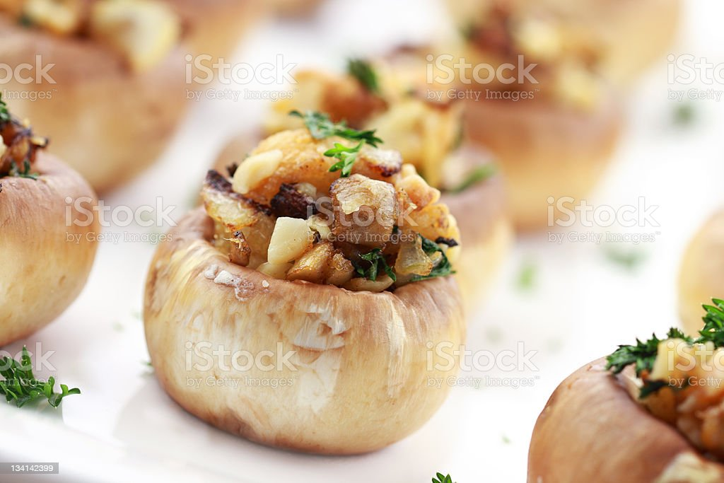 Stuffed Mushrooms stock photo