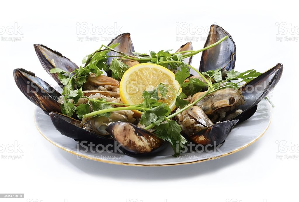 Stuffed Mussels royalty-free stock photo