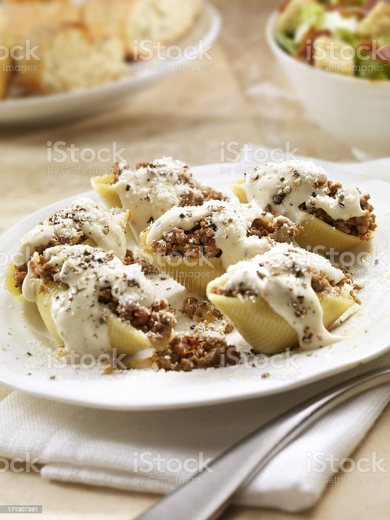 Stuffed Pasta Shells royalty-free stock photo