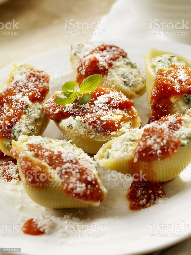 Stuffed Pasta Shells stock photo