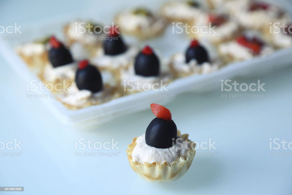 Stuffed Pastry Cups royalty-free stock photo