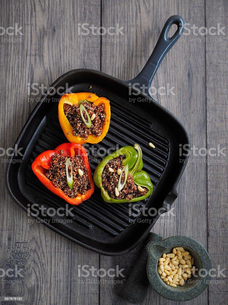 stuffed pepper stock photo