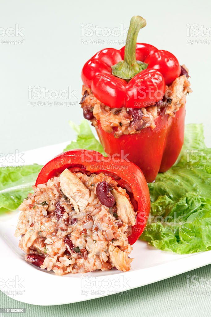 Stuffed peppers royalty-free stock photo
