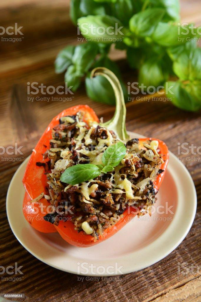 Stuffed peppers stock photo