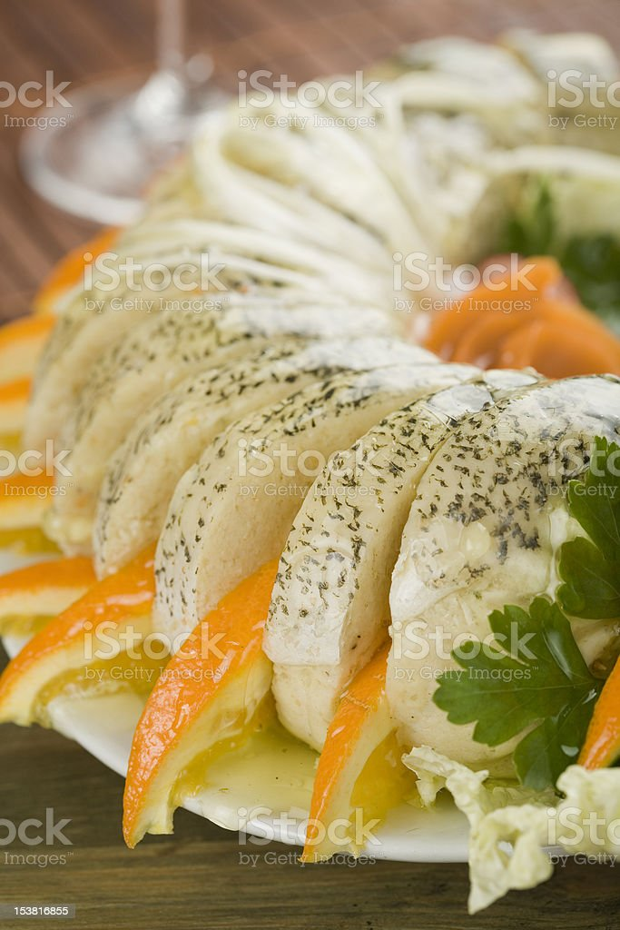 Stuffed pike royalty-free stock photo