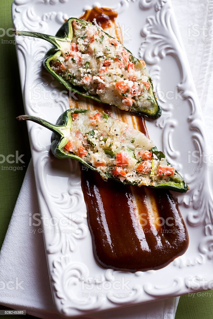 Stuffed Poblano Peppers stock photo