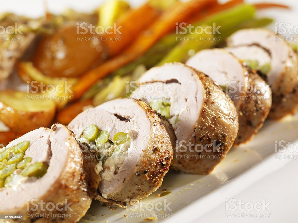 Stuffed Pork Tenderloin royalty-free stock photo