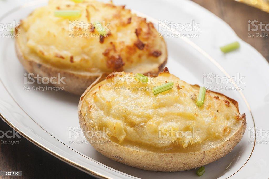 stuffed potatoes series 03 royalty-free stock photo