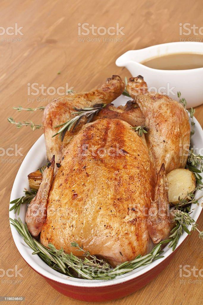 stuffed roast turkey royalty-free stock photo