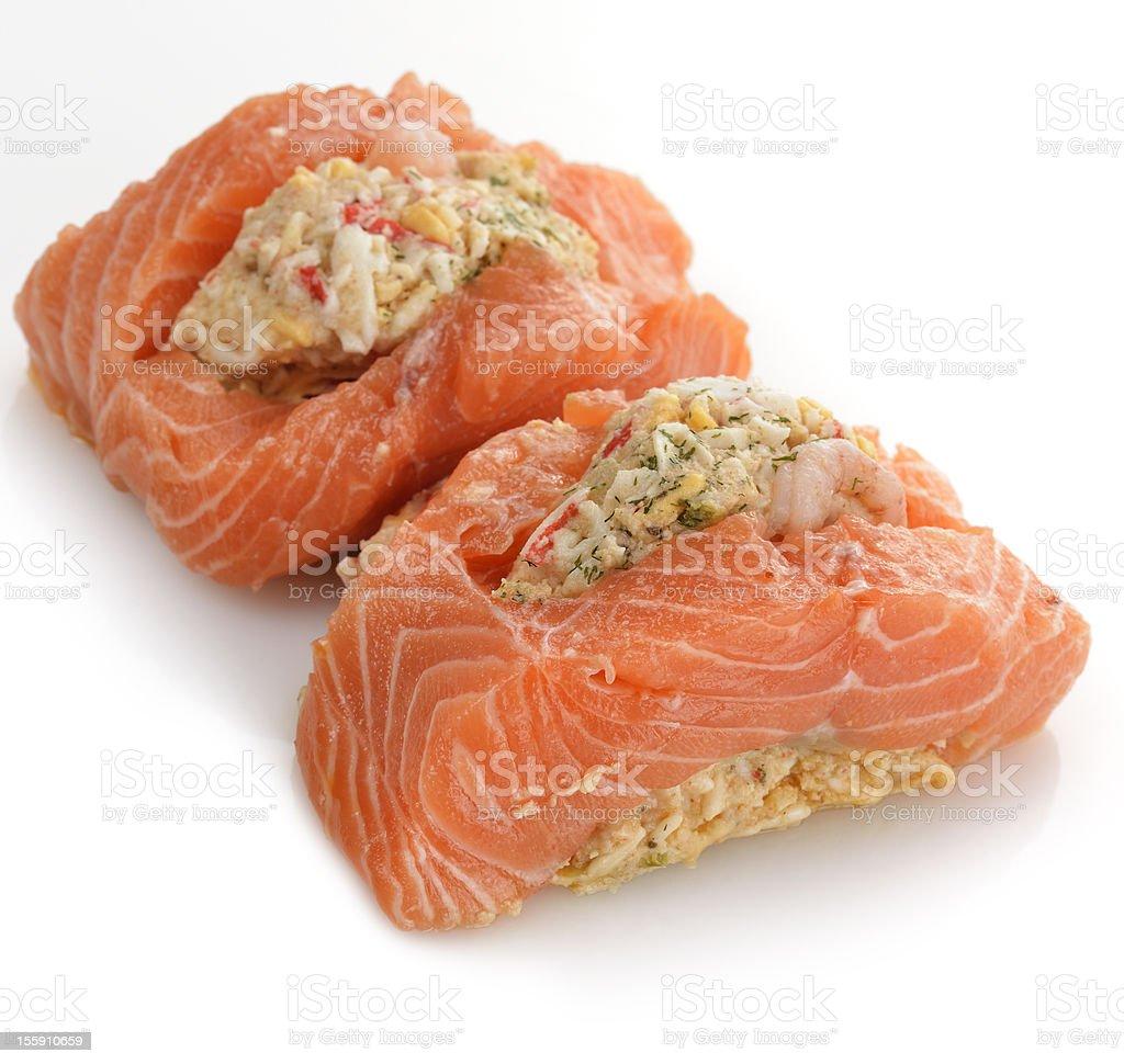 Stuffed Salmon stock photo