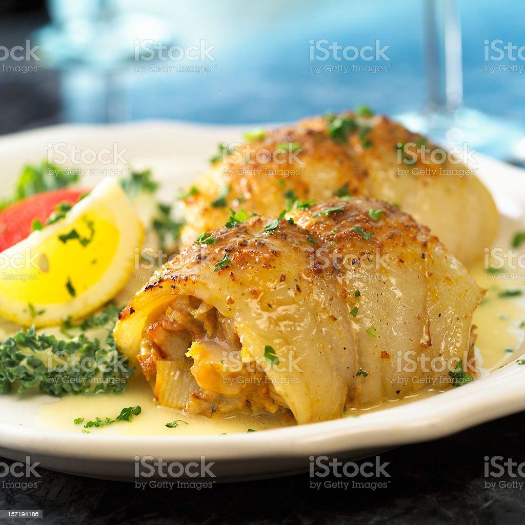 Stuffed Sole stock photo