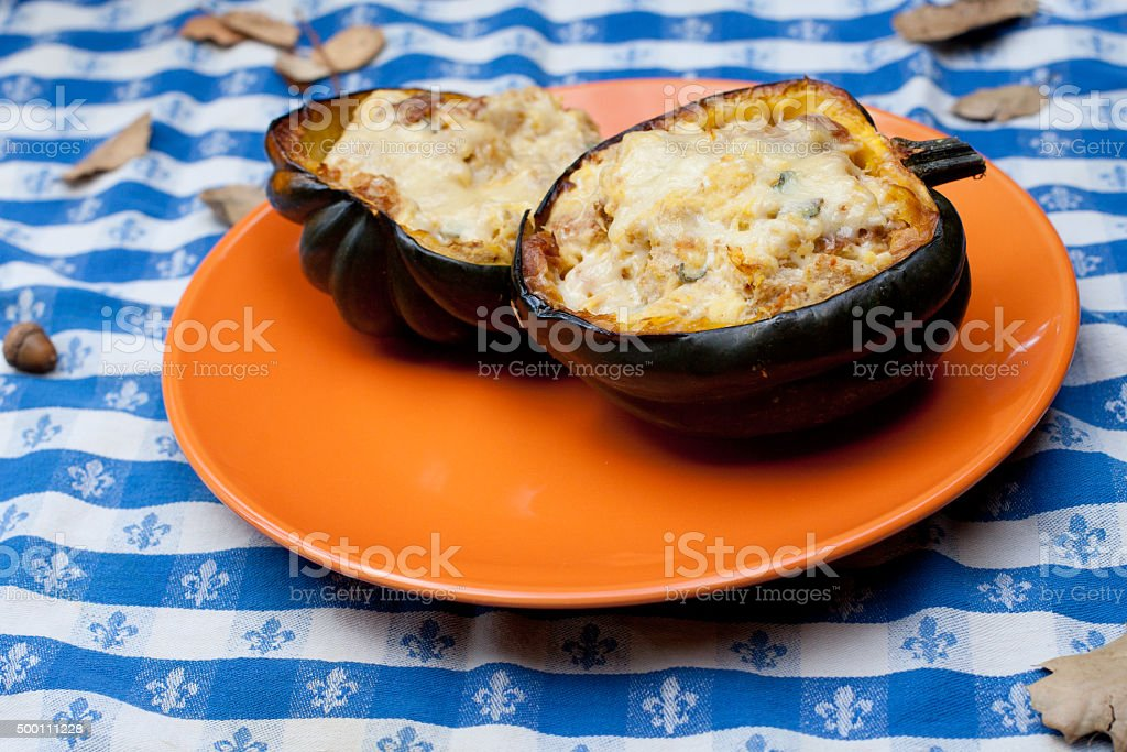 Stuffed Squash stock photo