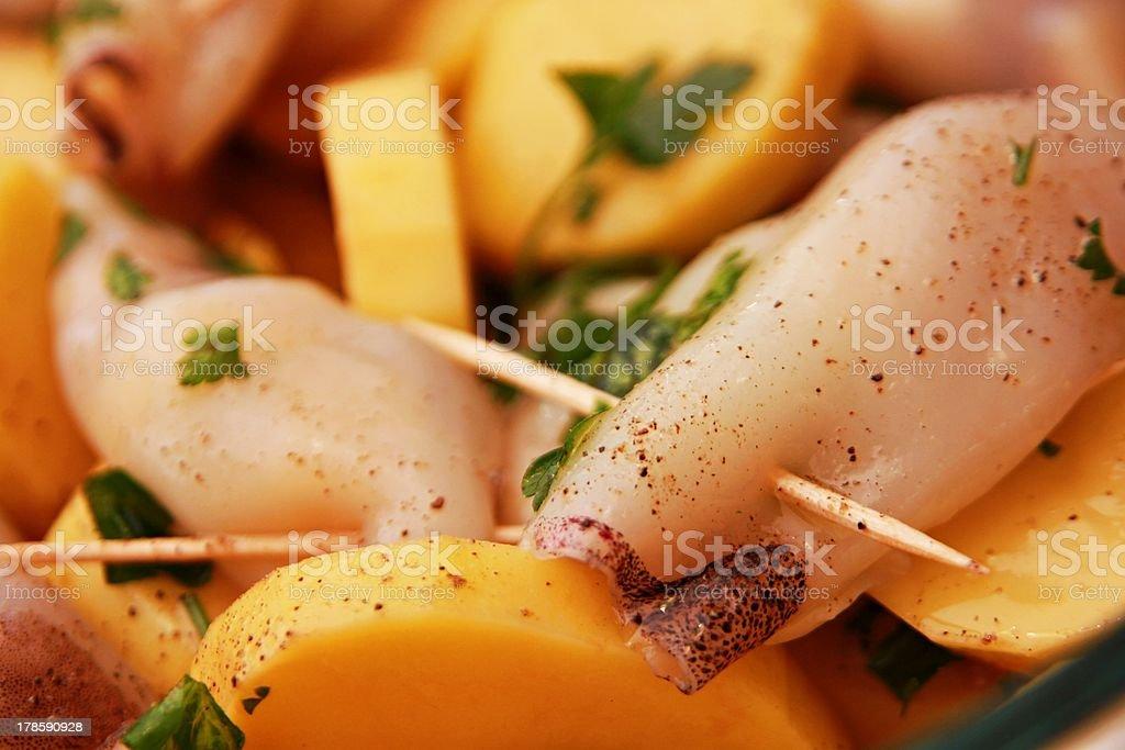 Gefüllter Tintenfisch Lizenzfreies stock-foto