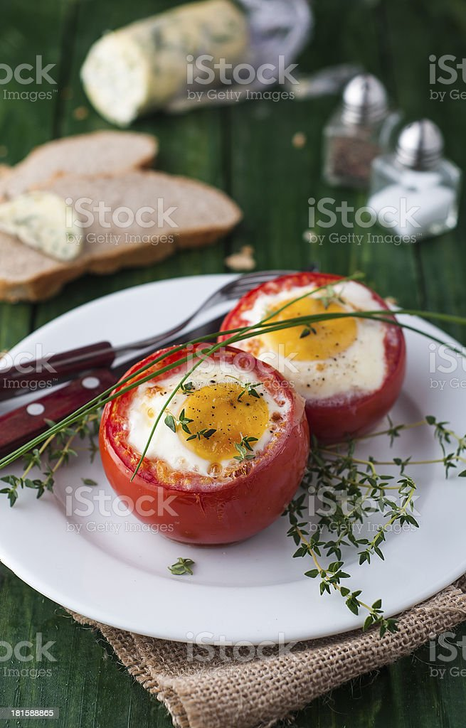 Stuffed tomatoes royalty-free stock photo