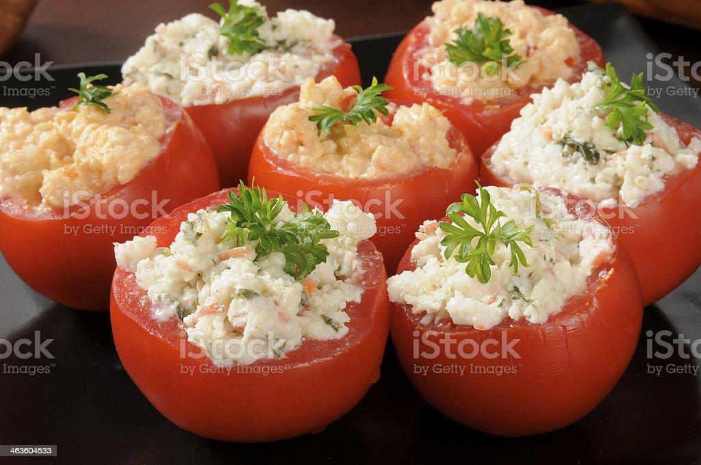 Stuffed tomatoes stock photo
