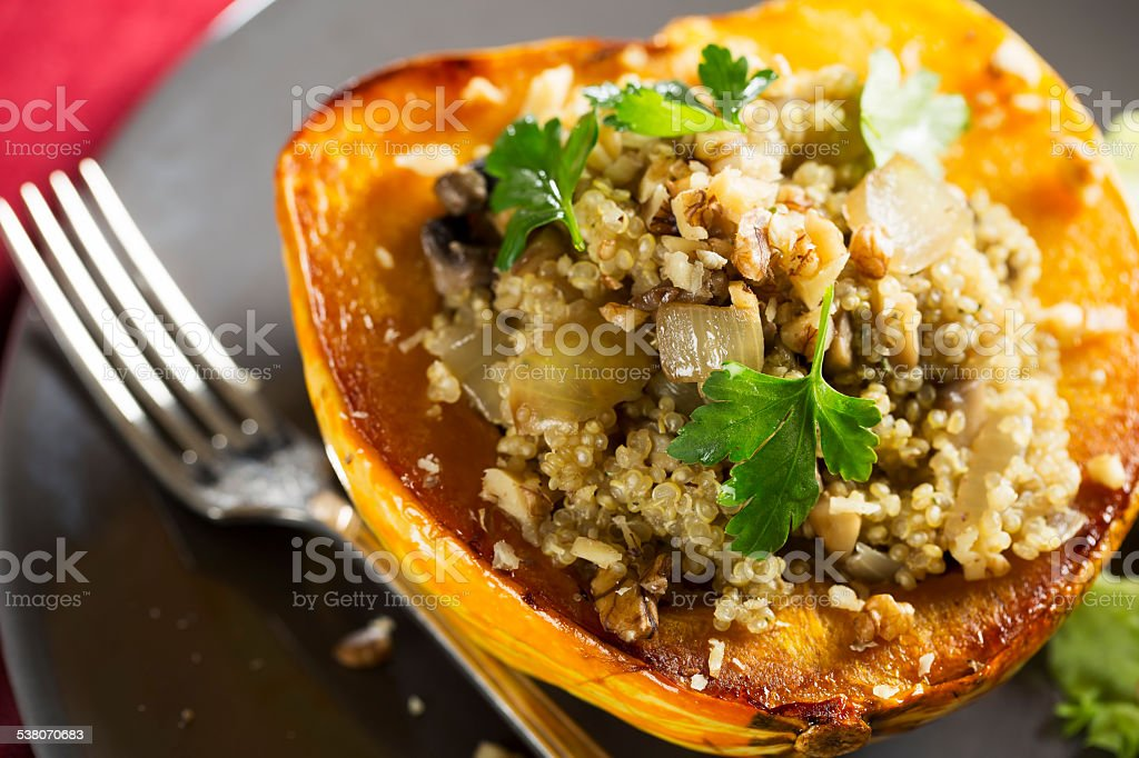 Stuffed Winter Squash stock photo