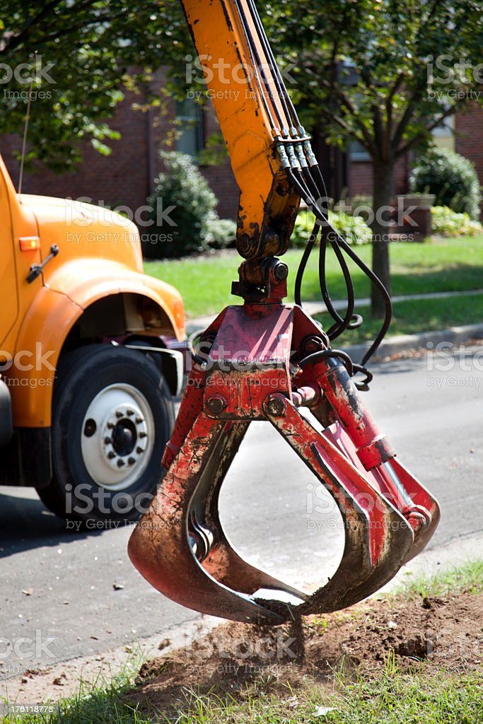 Stump Removal royalty-free stock photo