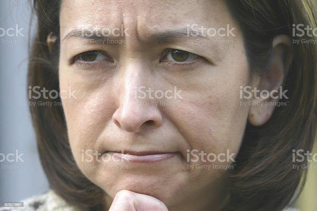 Stumped royalty-free stock photo