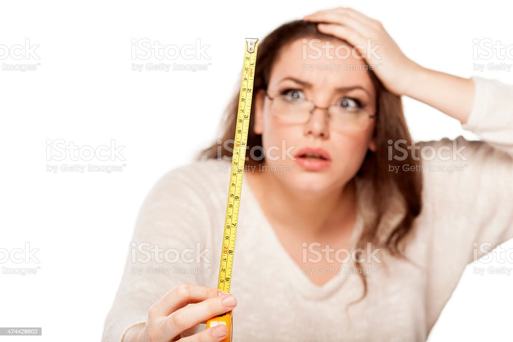 stunned by the size stock photo