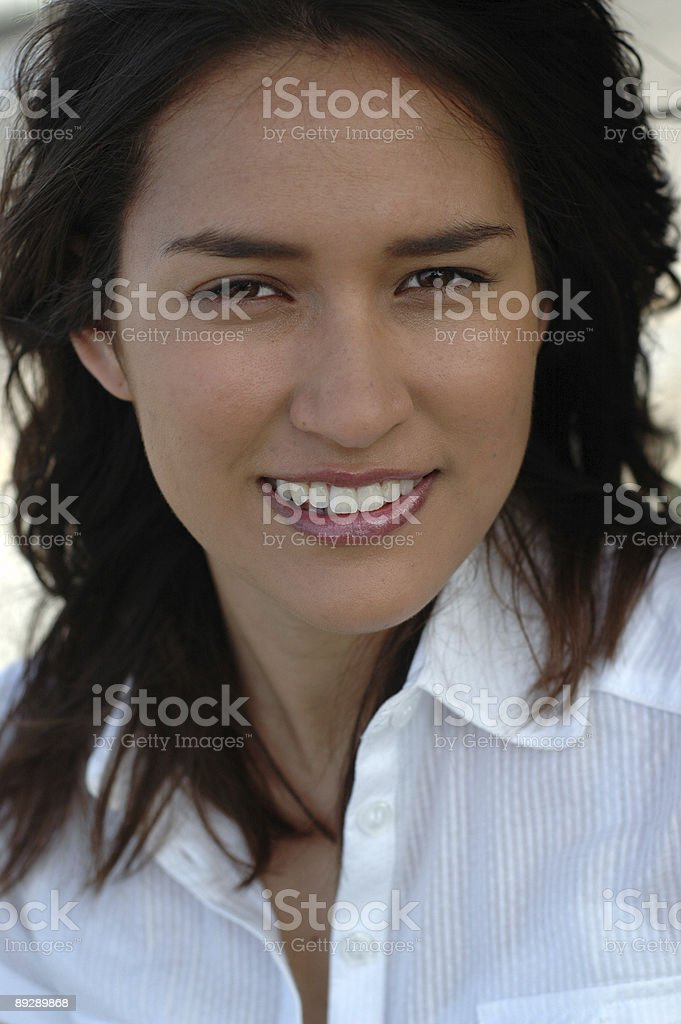 Stunning American girl of mixed heritage royalty-free stock photo