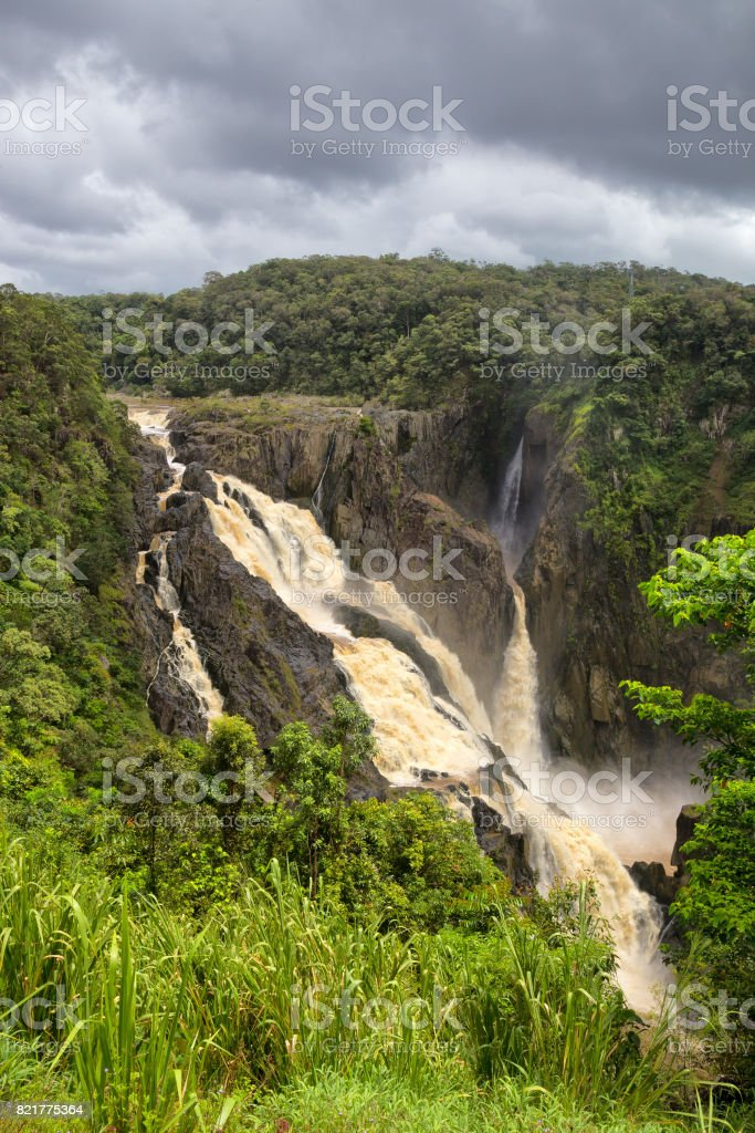 Stunning Barron Falls during the rainy season stock photo