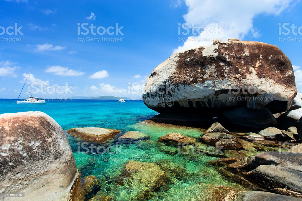 Stunning beach at Caribbean stock photo