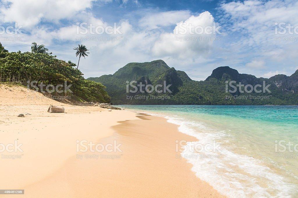 Stunning beach in El Nido, Philippines stock photo