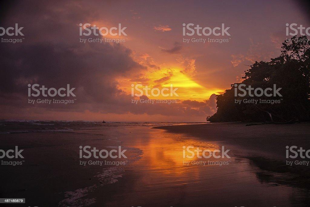 Stunning Beach Sunset stock photo