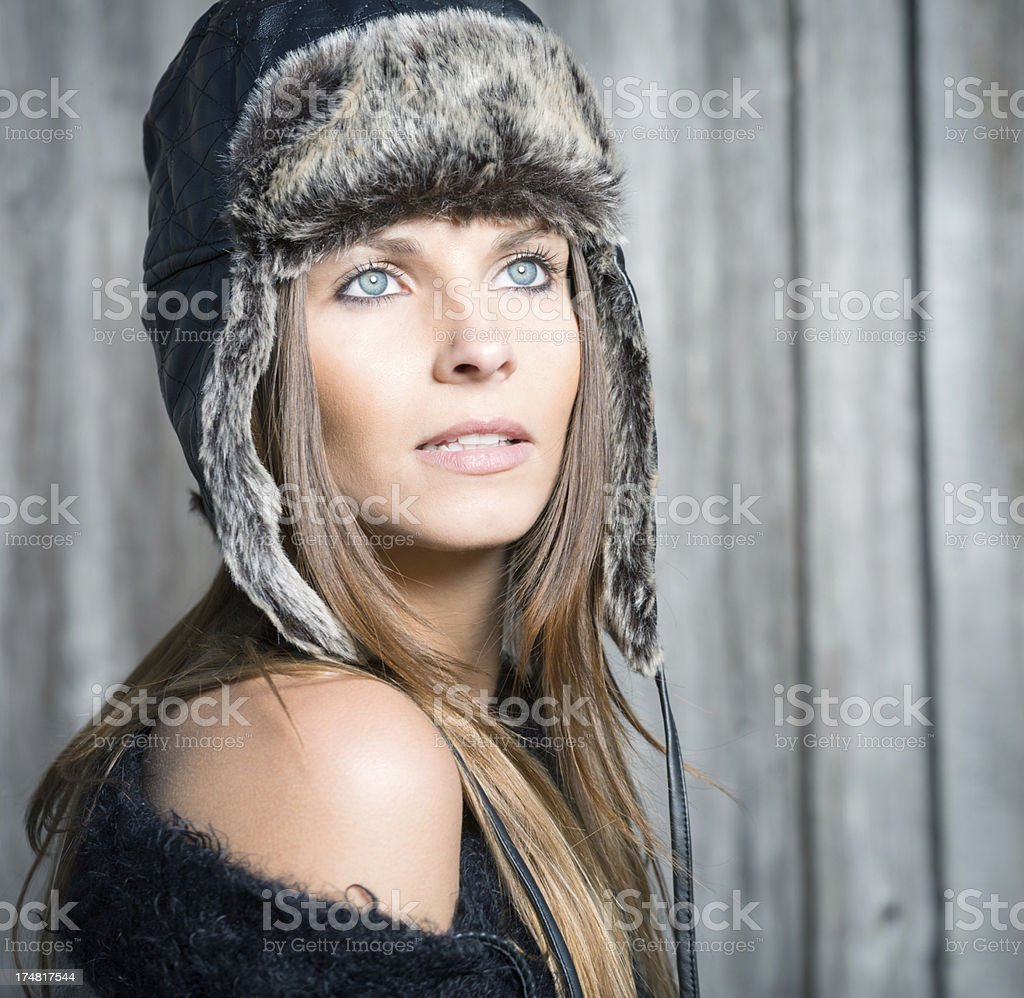 Stunning Beauty, Winter Portrait royalty-free stock photo