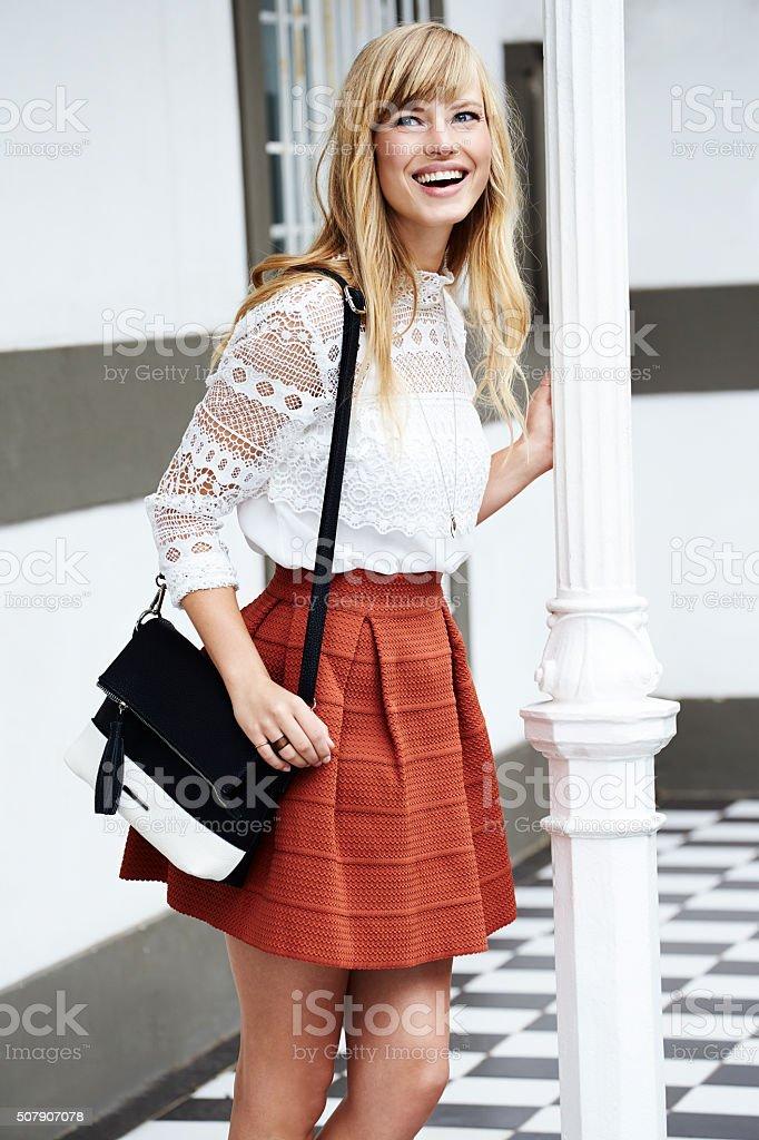 Stunning blond woman stock photo
