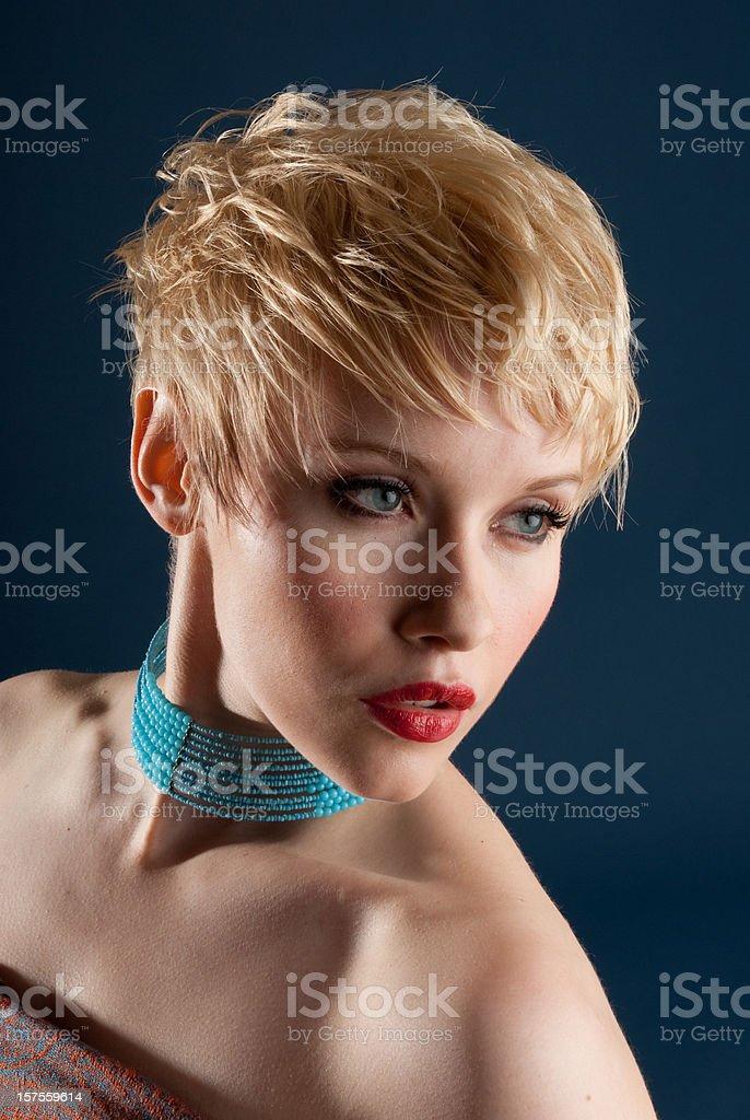 Stunning Blonde Headshot royalty-free stock photo