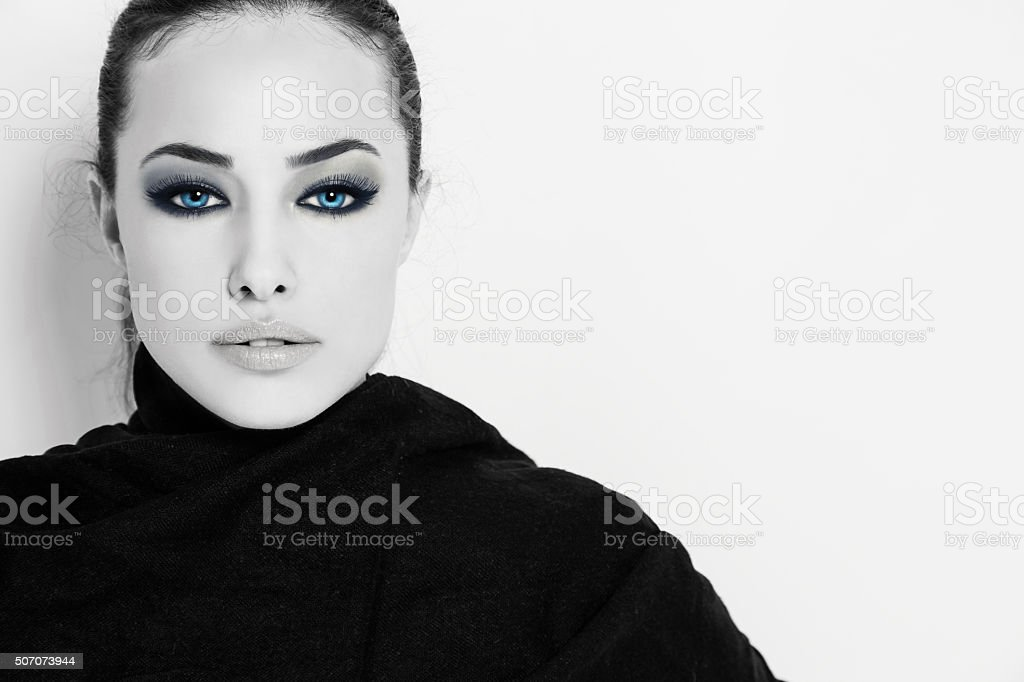 stunning blue eyes stock photo