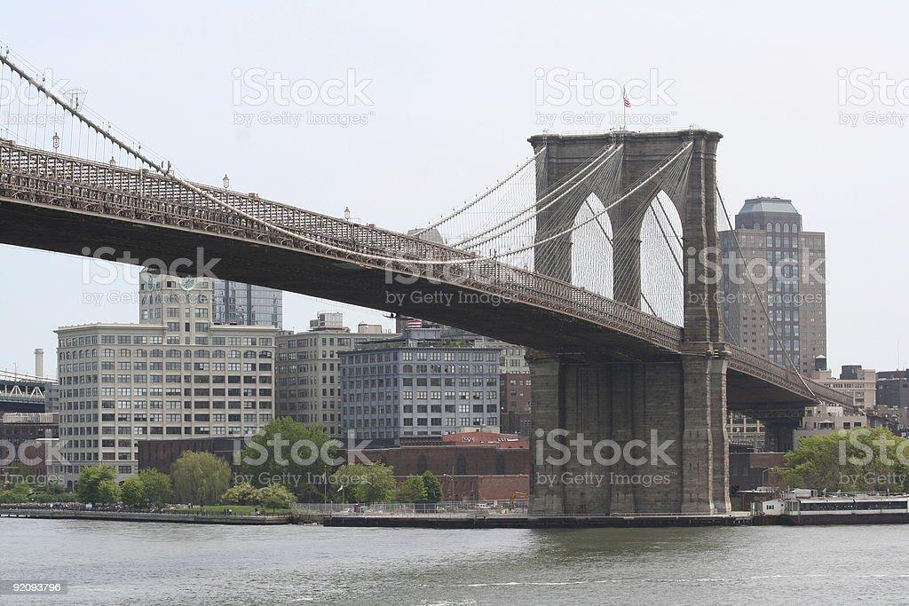 stunning brooklyn bridge royalty-free stock photo