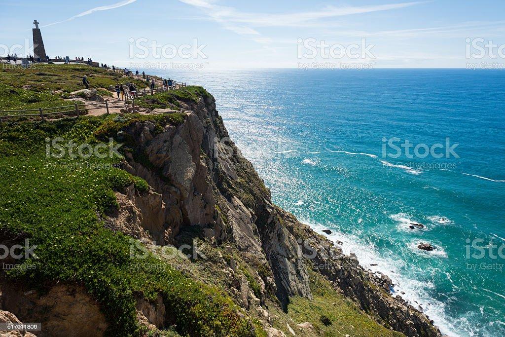 Stunning Cabo da Roca in Portugal stock photo