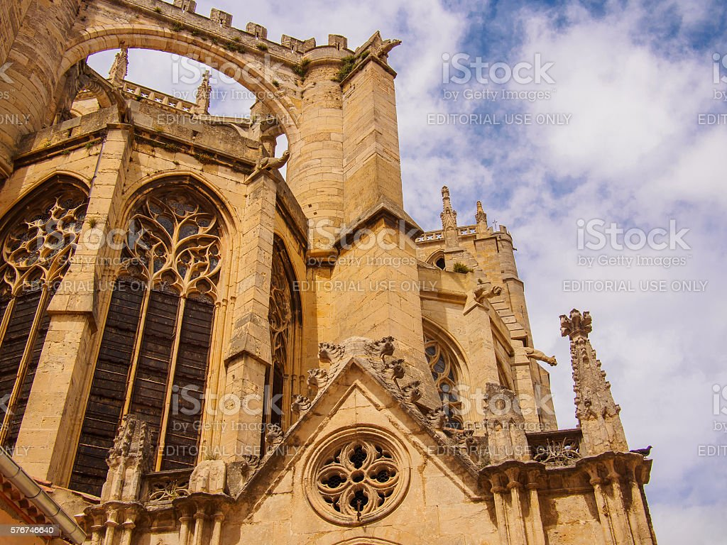 Stunning Cathedral in Narbonne on a spring day stock photo