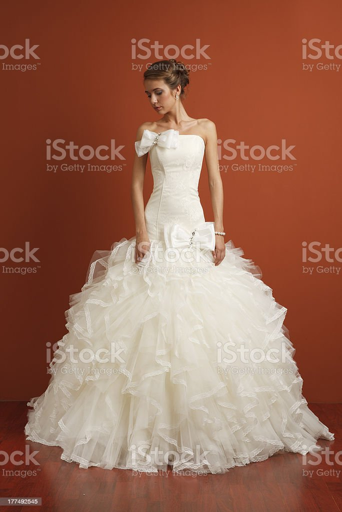 Stunning classical bride royalty-free stock photo
