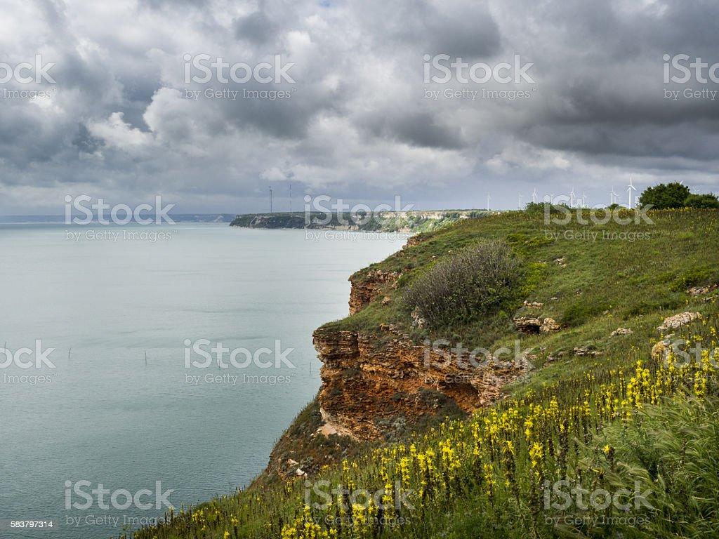 Stunning Cliffs on the East Coast of Bulgaria stock photo
