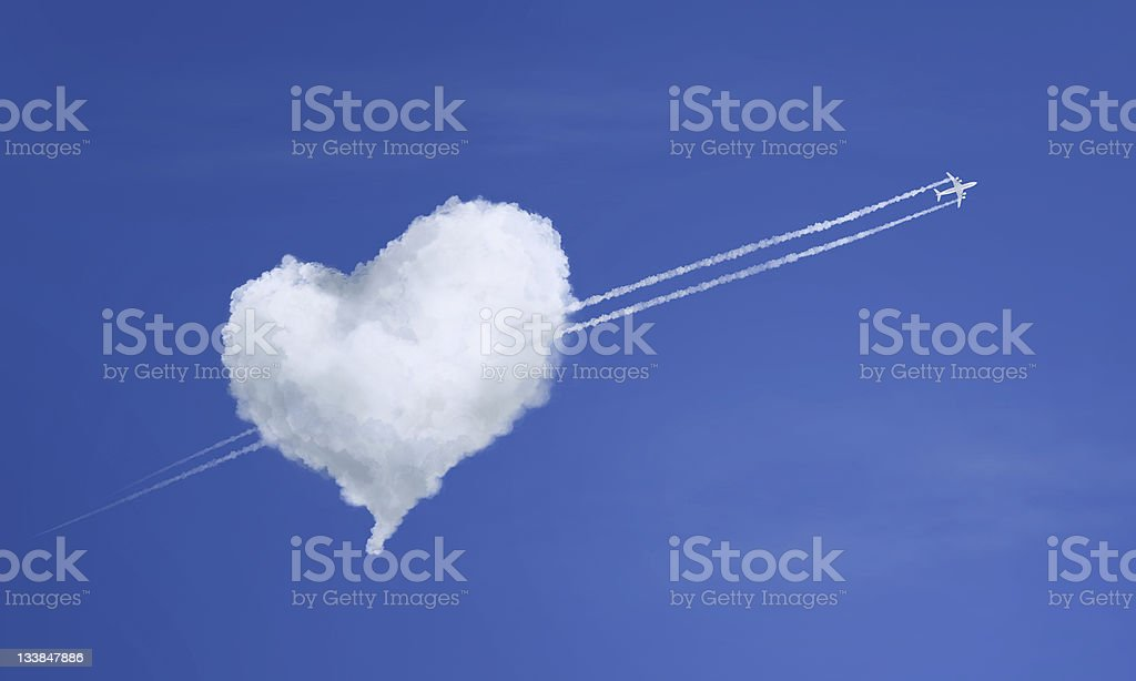 A stunning cloud love heart concept stock photo