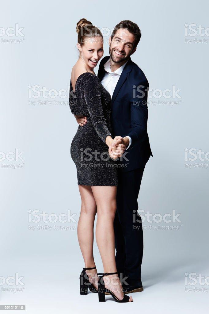 Stunning couple stock photo