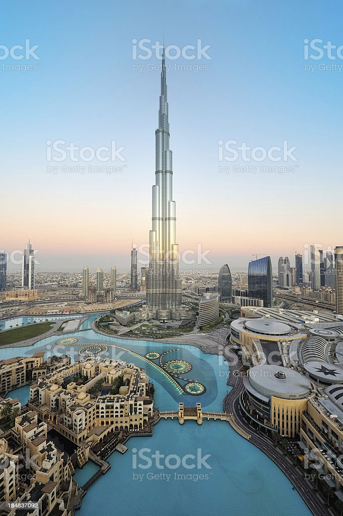 Stunning dubai stock photo