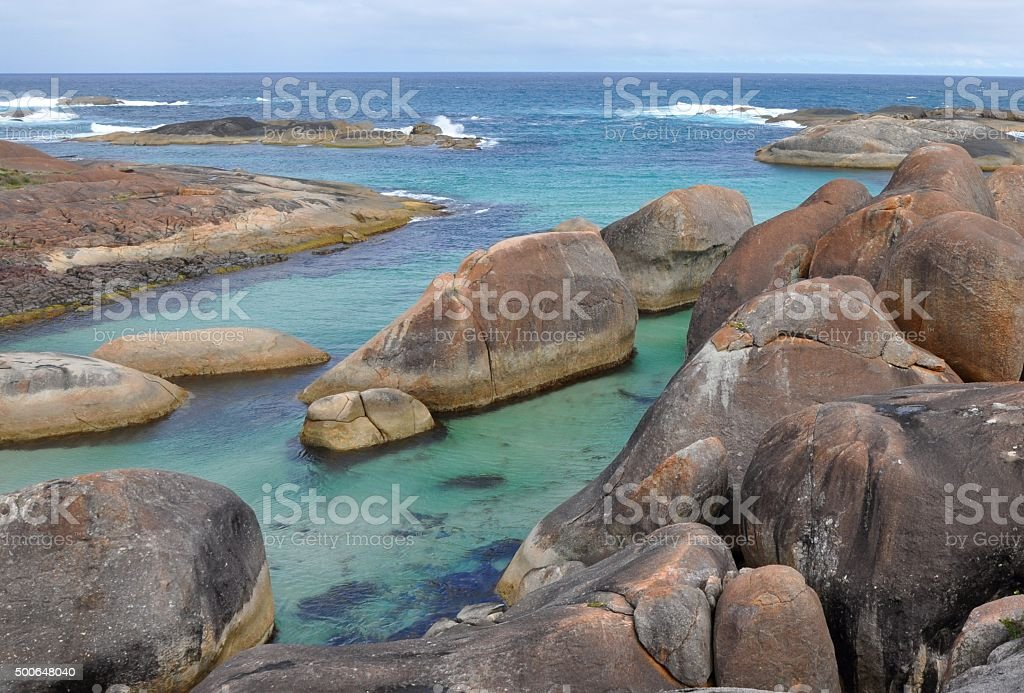 Stunning Elephant Cove in Western Australia stock photo