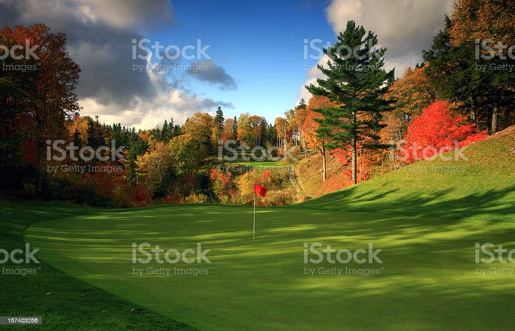 Stunning Golf Course in Canada in the Fall stock photo