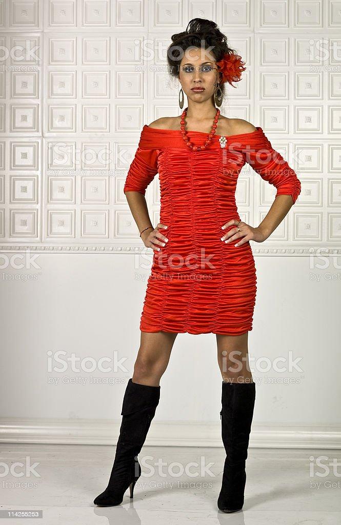Stunning hispanic young model stock photo